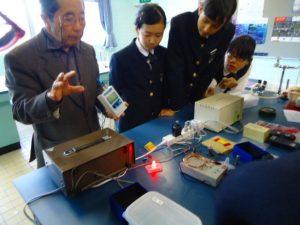 中2理科実験出前授業