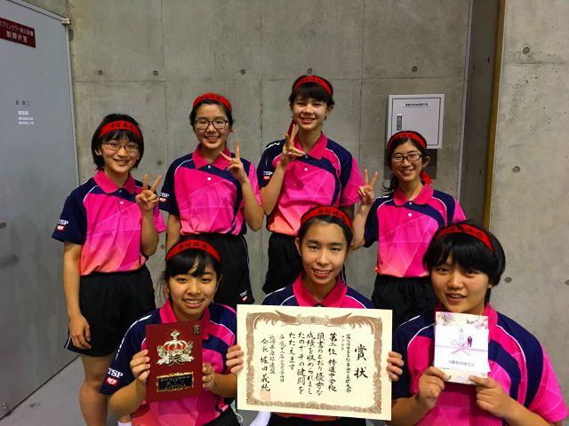 卓球部が九州大会へ-0