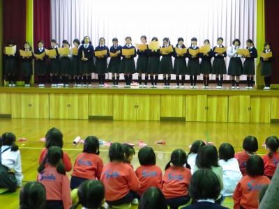 6年生を送る会2017